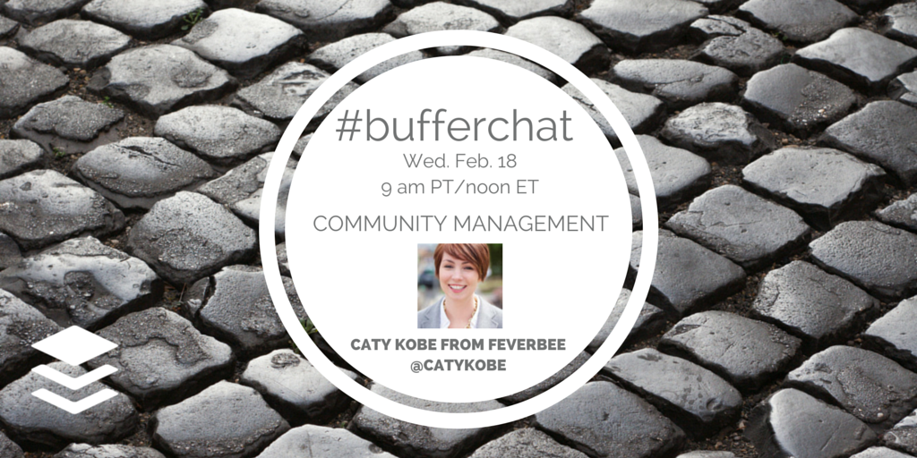 Excited to co-host #bufferchat! Join Weds @ 9am PST for a community chat & sneak peek into my latest work @feverbee! http://t.co/fINDIiV1kV