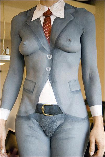 бодиарт порно нарисованная одежда