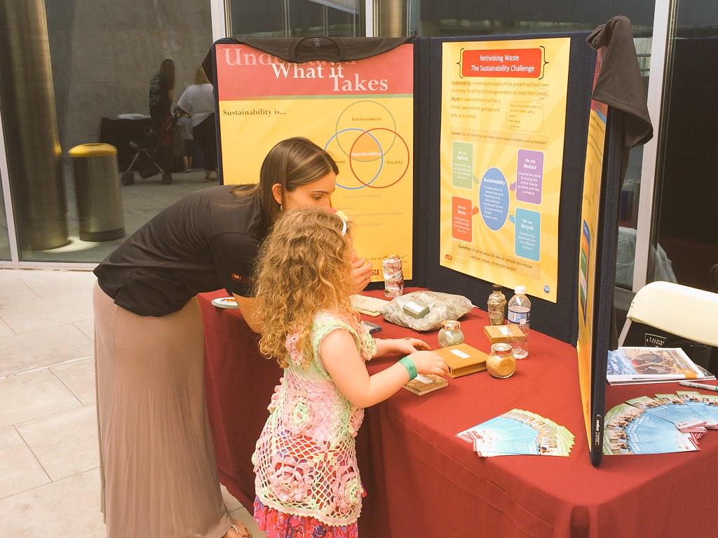 Inspiring the next generation to #ReduceReuseRecycle at the @WSSIatASU @ASUgreen #Sustival @azsciencecenter http://t.co/WEW1viegDi