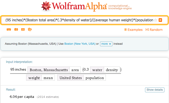 The weight of snow that's fallen on Boston is roughly equal to 4x that of the U.S. population. http://t.co/npbPPyk06Q http://t.co/P1hVA2wTDG