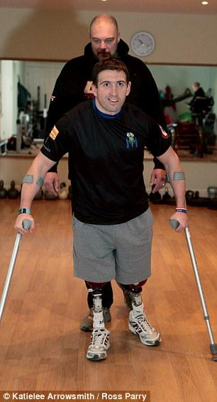 Britain's most injured surviving soldier is now able to walk two miles a day. http://t.co/jeFTC7ve90 http://t.co/nnTPJYfkZv