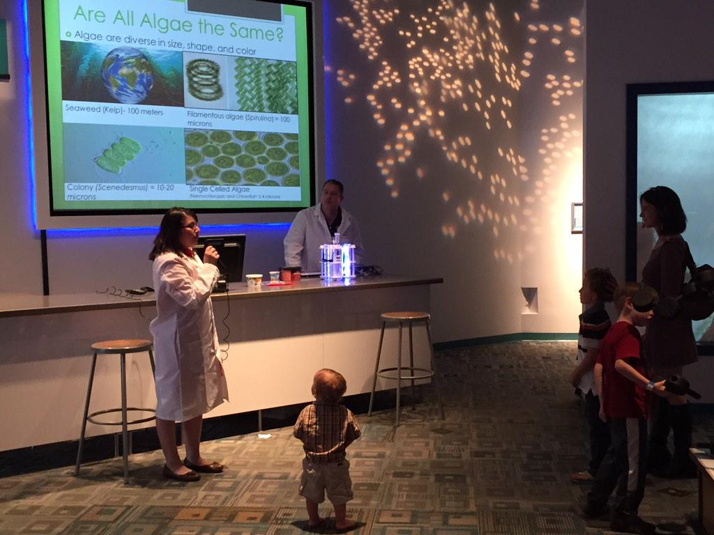 .@asulightworks talking #algae at @azsciencecenter #sustival http://t.co/dE9yLIa7CR