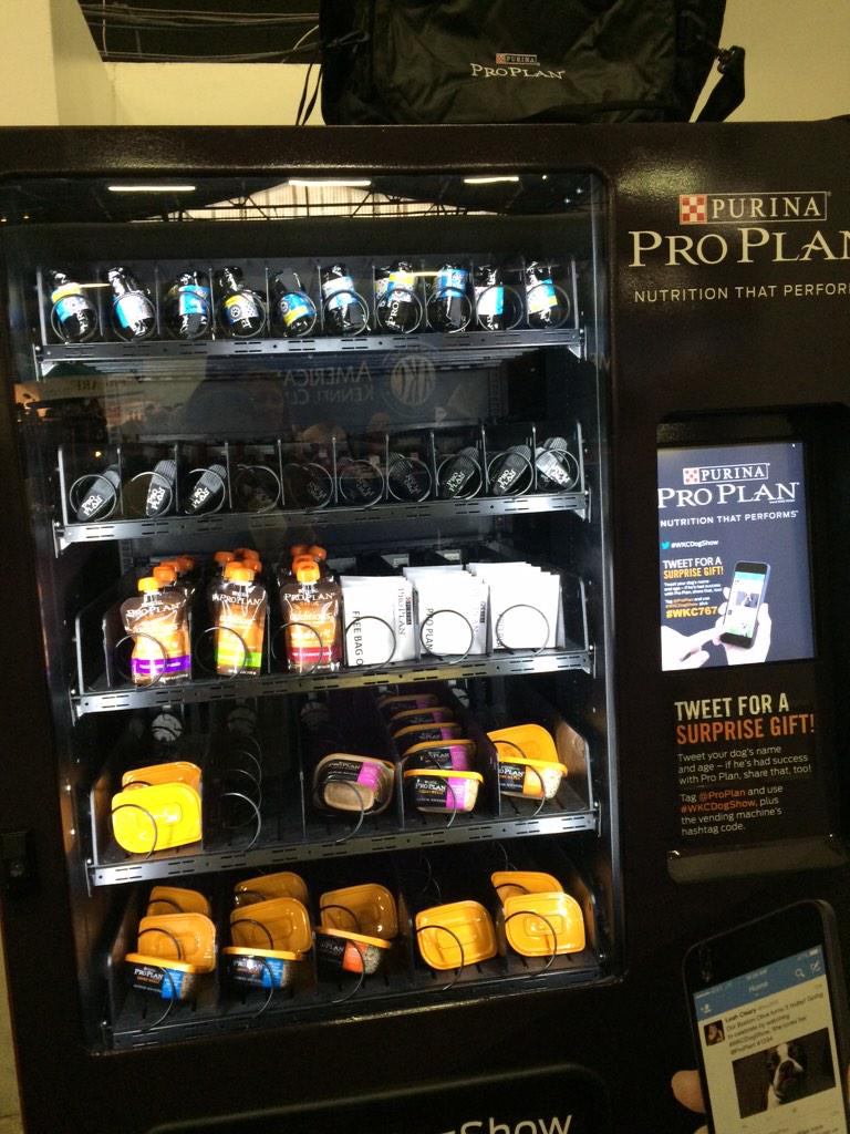 We just checked out @ProPlan's vending machine at #WKCDogShow. How cool is this?? Check it out if you're around! http://t.co/mnpPG5KtNU
