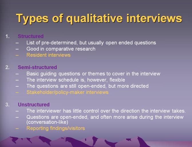 hanne nielsen on twitter   u0026quot dr stewart outlines 3 main types of qualitative  interviews