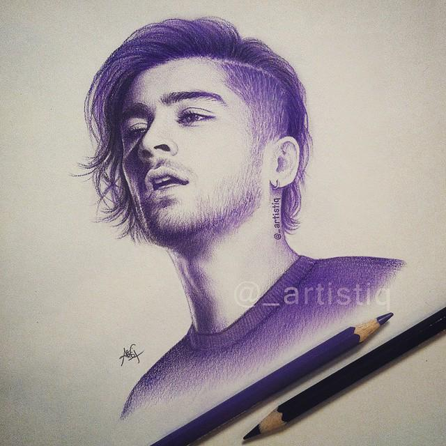 Artistiq on twitter purple pencil sketch of zayn 😍💜 zaynmalik http t co cxgqp79gy2