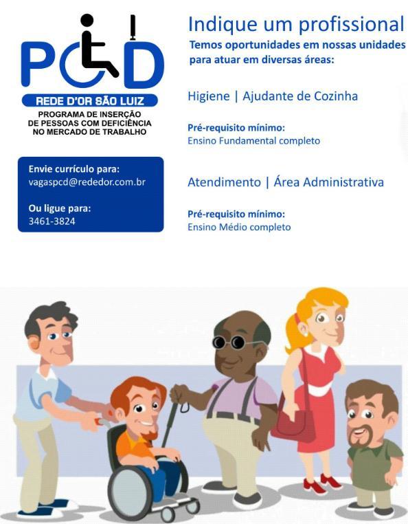 A @rededor tem #vagas para pessoas com #deficiência em diversas unidades.  #RedeDOr #PCD #CV #compartilhe http://t.co/G9yqKj73PW