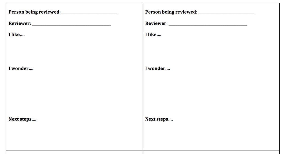 Edutopia On Twitter Download Project Peer Review Template Tco 94kMzxT0du Pblchat UFhosehgQo