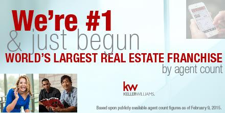 JUST ANNOUNCED: KW is the LARGEST #realestate franchise company in the WORLD!  #kwfr http://t.co/uJUvaMIf8M
