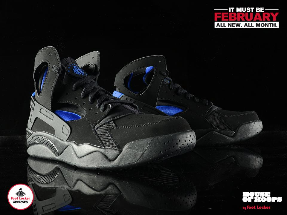 new styles f0da3 b8afc the nike air flight huarache og black blue drops in stores today check here  for stores