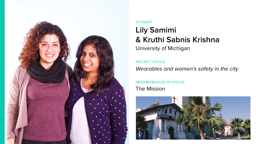 .@lsamimi & @Conundraa are prototyping wearables to enhance women's safety for #ixd15 #wearablecity Design Challenge. http://t.co/FO64XEzj3D