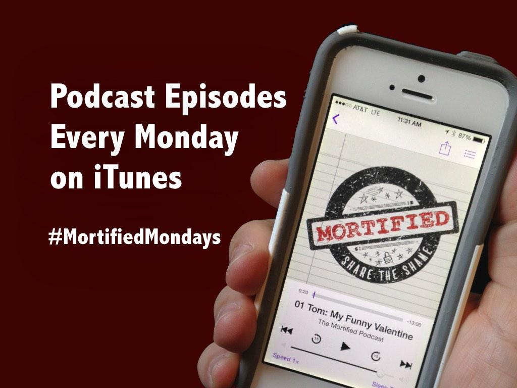 Celebrate the horror of Valentines w/ the DEBUT ep of The Mortified Podcast #MortifiedMondays https://t.co/6Ru3m88nEc http://t.co/Dld08ryw9u