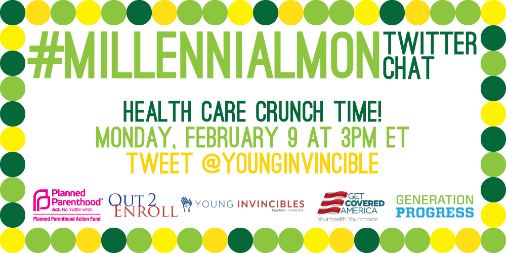 Just days left to #GetCovered! Get the details at #MillennialMon w/ @GetCoveredUS @Out2Enroll @genprogress & @PPact! http://t.co/l7gOGCwRlc