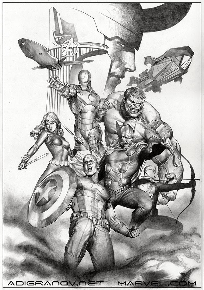 Avengers Pencil Drawing Embedded Image Permalink