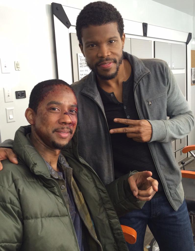 The brothers Riggs! @SleepyHollowFOX @SharifAtkins thank you for saving your lil bro http://t.co/bmIhiGZUNZ