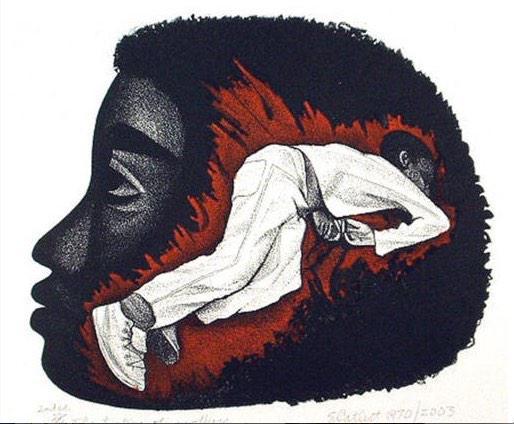 'The Torture of Mothers' 1970. Elizabeth Catlett. #BlackLivesMatter #BlackFutureMonth