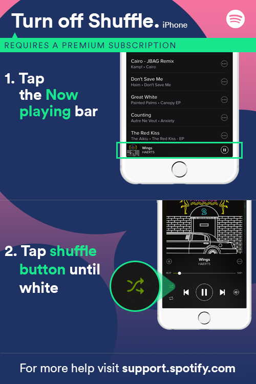 how to turn shuffle off on iphone solved can t turn shuffle play the spotify community 20422