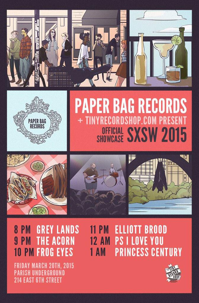 "Paper Bag Records on Twitter: ""Join us at @sxsw for the Paper Bag ..."