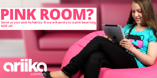 Do you have a Pink Room?send us fabrics,50%off http://t.co/d2Bj82ax1G  #Ariika #BeanBags #Comfort #Quality http://t.co/4oQPlu3oSK