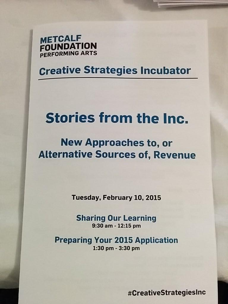 This morning the first learning network of our #CreativeStrategiesInc program share their learning. http://t.co/TRotSl0hzD