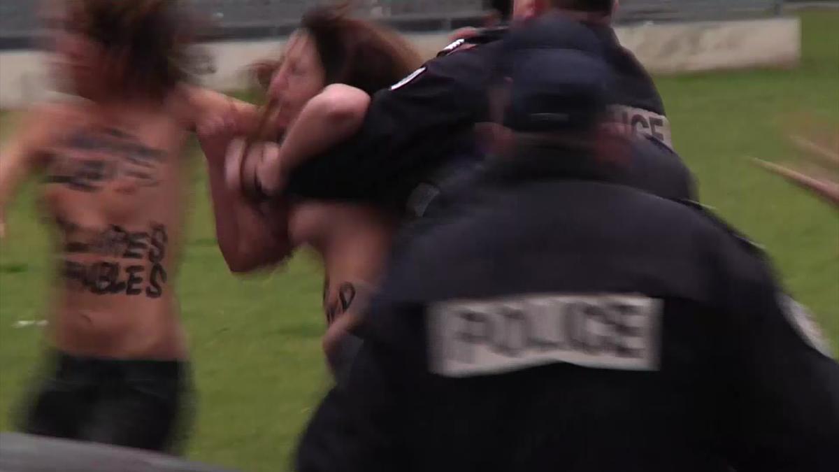 Protesta de mujeres Francia