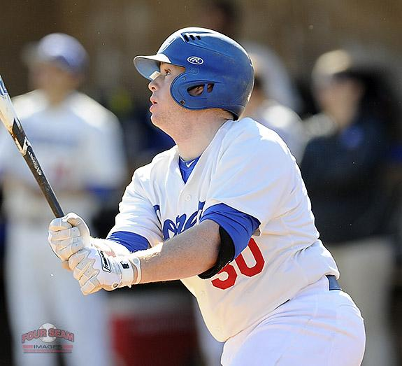 @GOSMCBASEBALL Seth Wall (30) bats in the opening homestand against Surry on Saturday. http://t.co/CdsZaPIF66