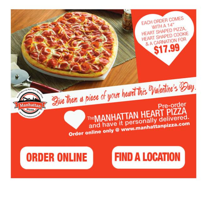 Manhattan Pizza On Twitter Pre Order The Manhattan Heart Pizza