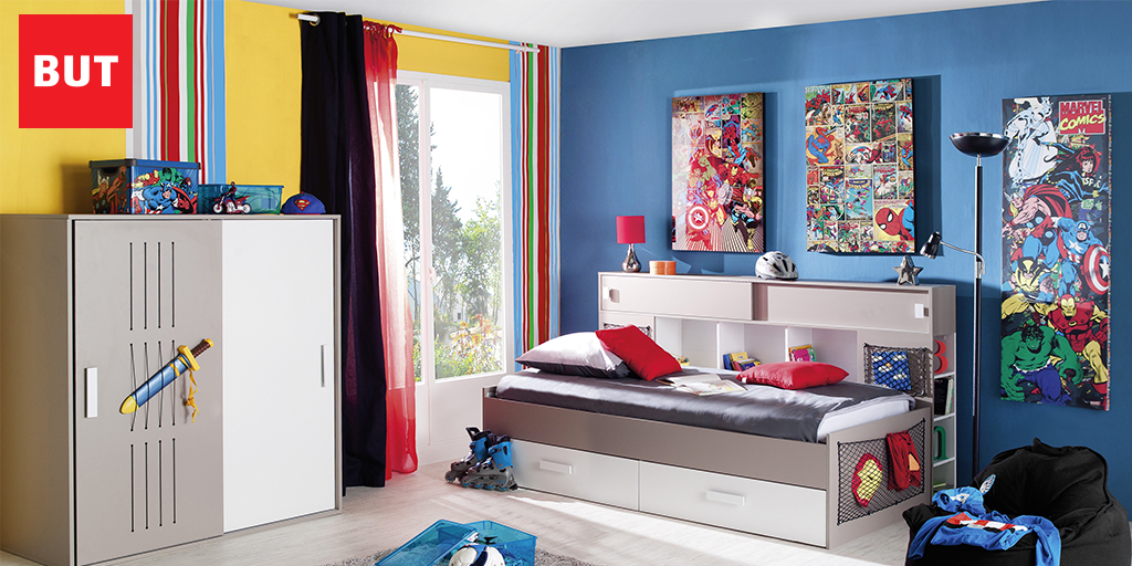 deco chambre super heros avec des id es. Black Bedroom Furniture Sets. Home Design Ideas