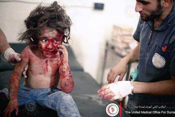 Assad, the children's killer.. #Douma is burning. #Syria http://t.co/lTiVOAfPTh
