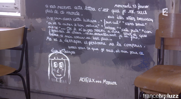 La lettre d'adieu de Marion Fraisse, horrible... #Infrarouge http://t.co/54gIzdrnnn