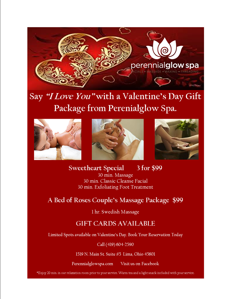 Perennial Glow Spa On Twitter Valentine S Day Specials 3 For 99