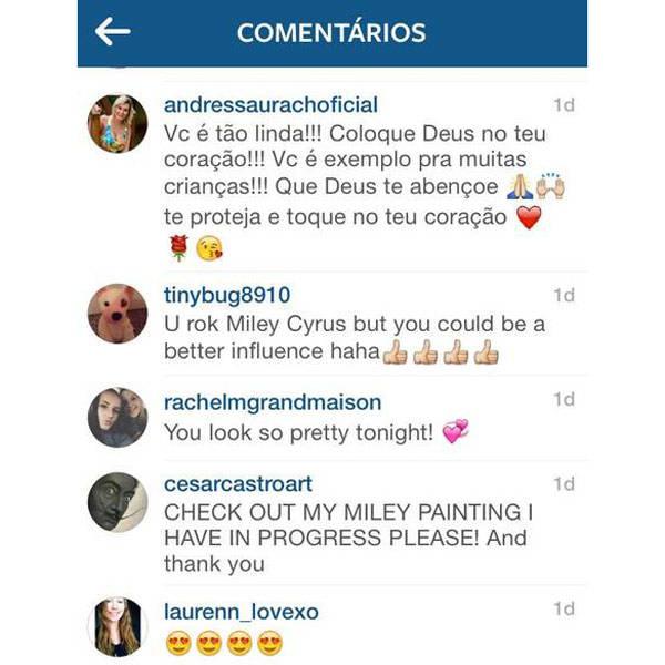 Recém-batizada na Igreja Universal, Andressa Urach tenta converter Miley Cyrus no Instagram: http://t.co/GMQPivghY9 http://t.co/M3kWVBmINW