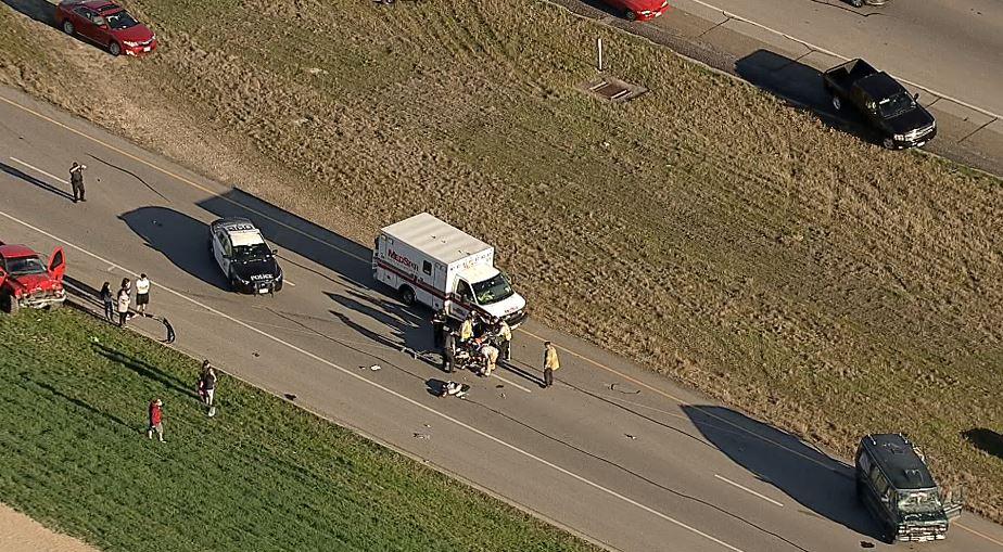 Emergency crews Fort Worth accident Marine Creek Pkwy NW Loop