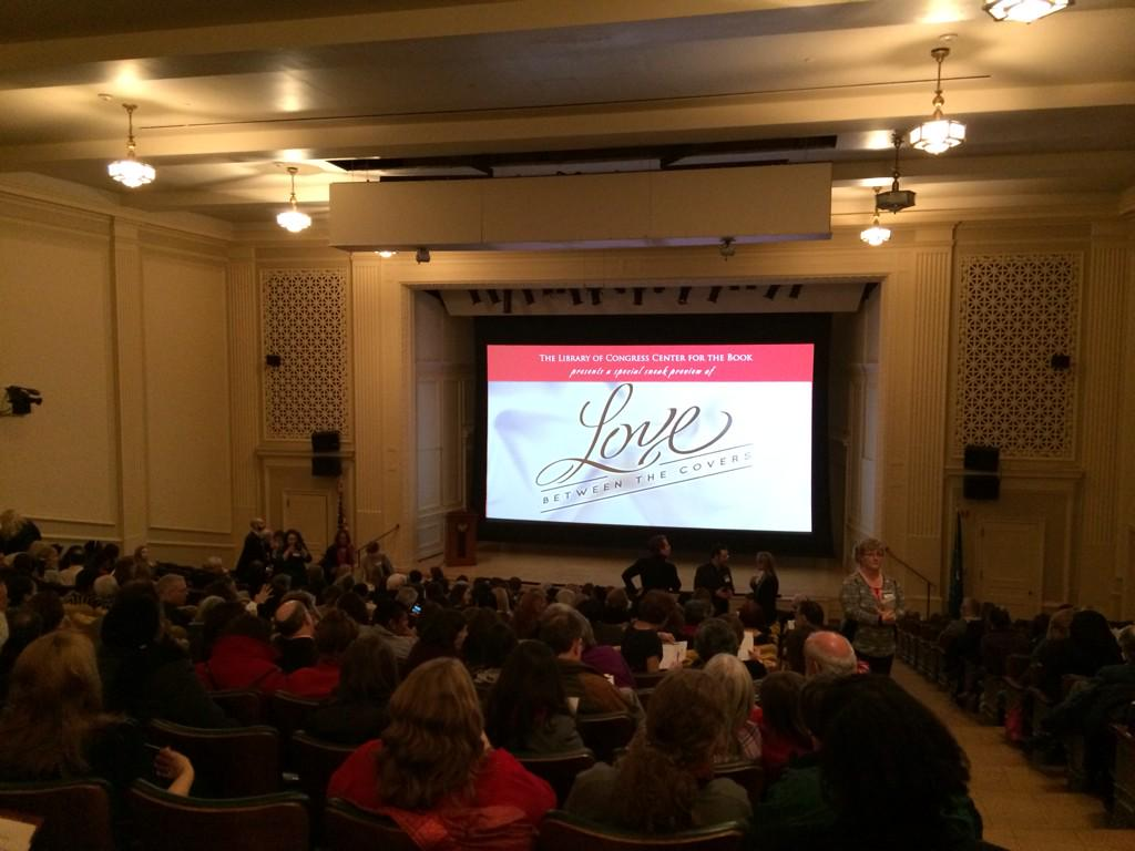 Excited to be at @PopularRomance's preview of LOVE BETWEEN THE COVERS romance doc at the @librarycongress! #poprom http://t.co/EGKOFWG2DJ