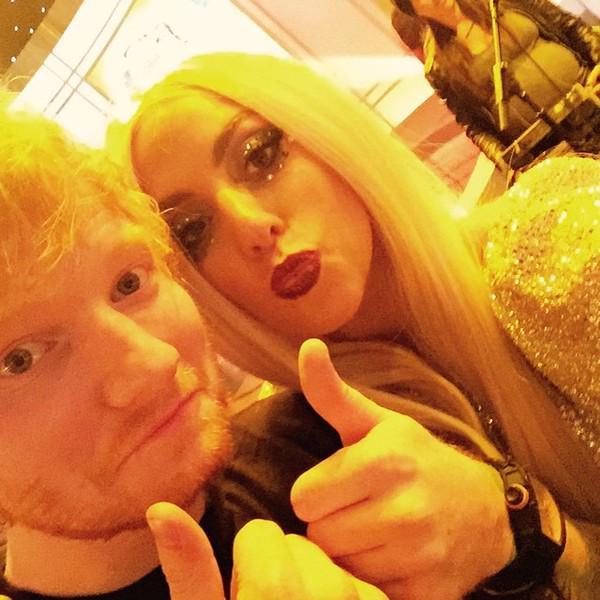 Ed Sheeran and Lady Gaga