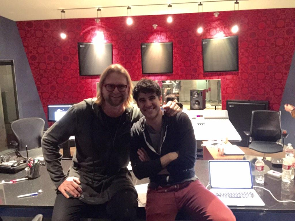 Had a great time with @DarrenCriss all night I the studio!  10pm and only about 5 hours to go.... #GleeFinalSeason http://t.co/INPWqtw0EX