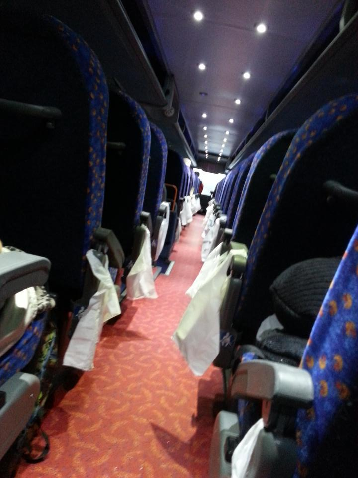 And we're off to Glasgow for our interview! Early Megabus never looked so good #desent15 http://t.co/4SYE6vDcat