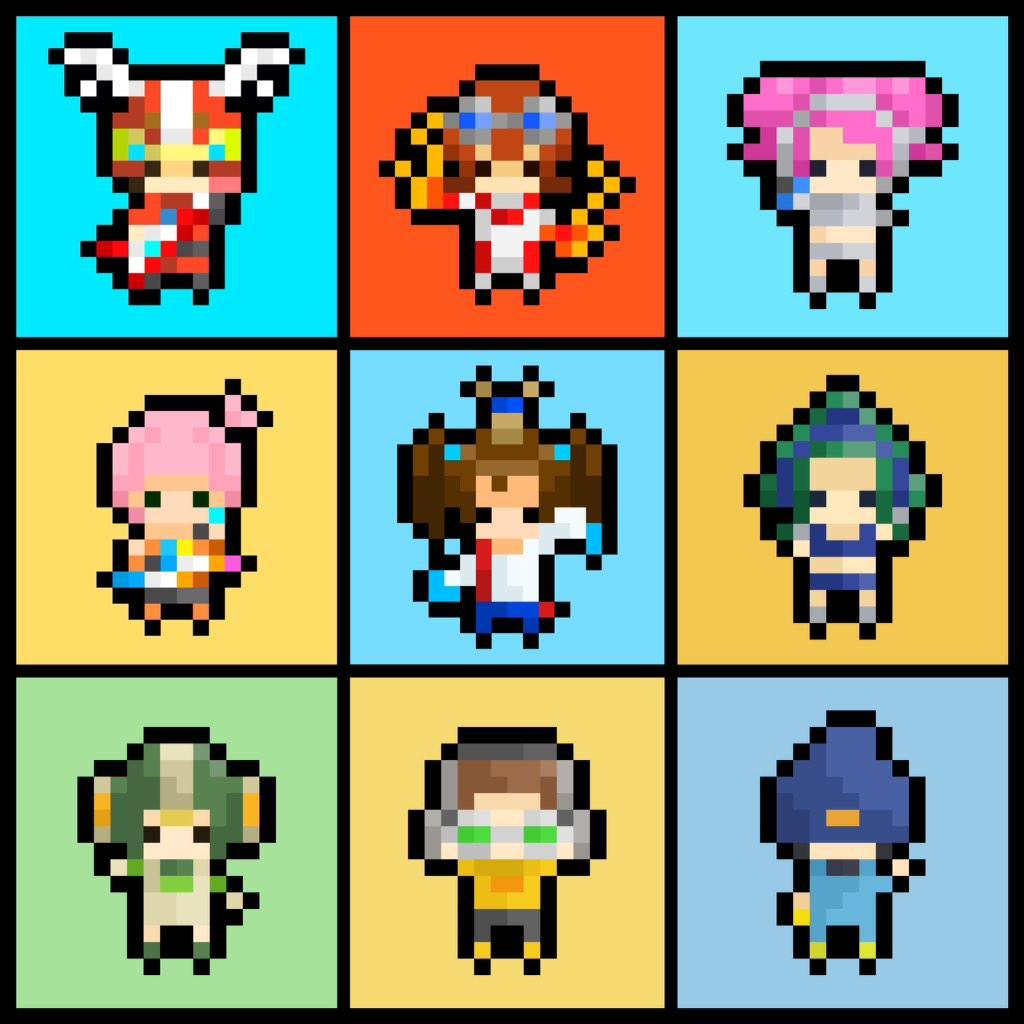SEGA pixel characters by Peco