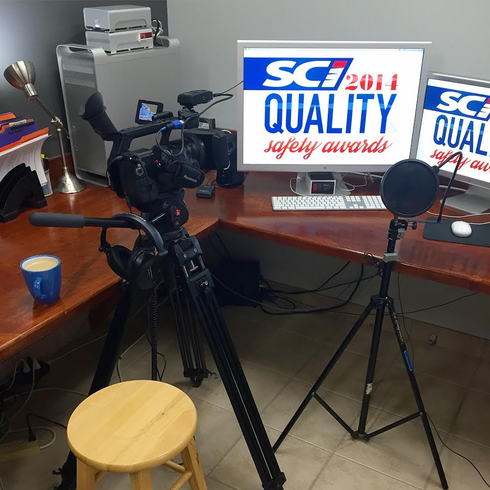 Shooting some Skype interviews this morning for the SCI Quality & Safety Awards for the 3rd year in a row! #do180
