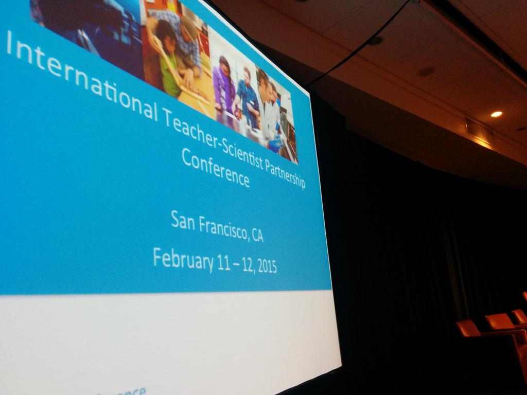 .@sep_ucsf kicking off the #itspconference in a few minutes. Two days of scientists and teachers working together. http://t.co/pcVGwPXTvY