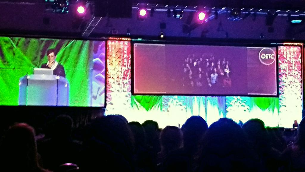 @dafeinberg delivering the keynote at #OETC15! http://t.co/EoaCH89B66
