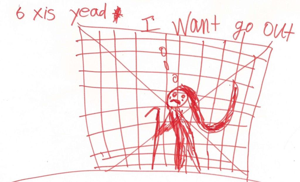 It's time to get children out of detention. RT if you agree.  (Drawing by a six year old, via http://t.co/NsCYyNa6yz) http://t.co/Fyex89Il0B