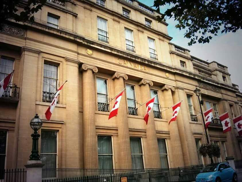 @CdnPress Here in London, UK at Canada House - I feel a little homesick every time I walk by. #mapleleaf50 http://t.co/frilPJGNqs