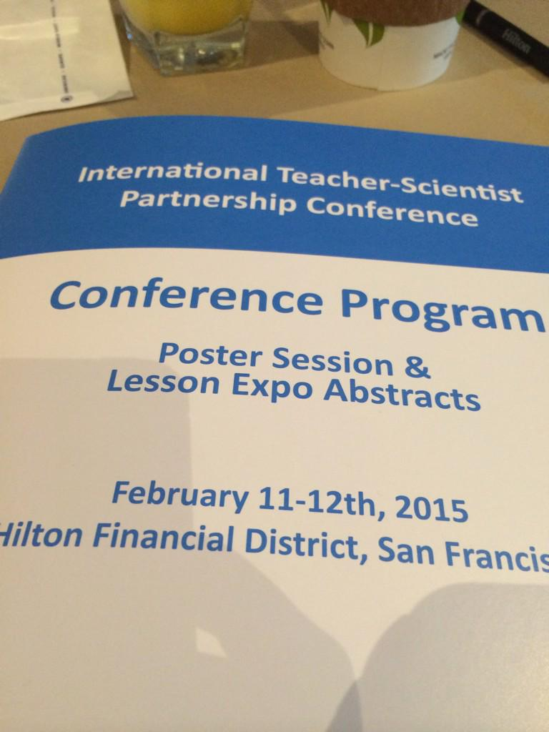 It's time!! So excited to be back at this conference #itspconference #stempartnerships http://t.co/e20dhGy8yZ