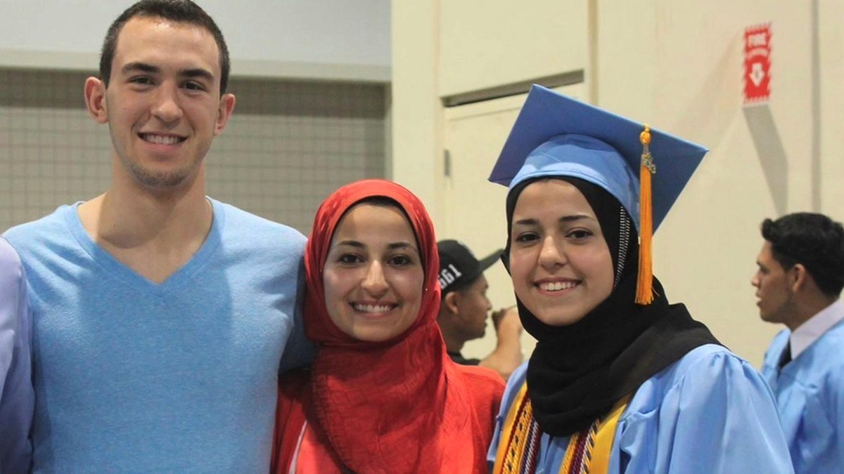 Deepest condolences to families of Deah Shaddy Barakat, Yusor Mohammad & Razan Mohammad Abu-Salha #ChapelHillShooting http://t.co/cPngnG7oGV