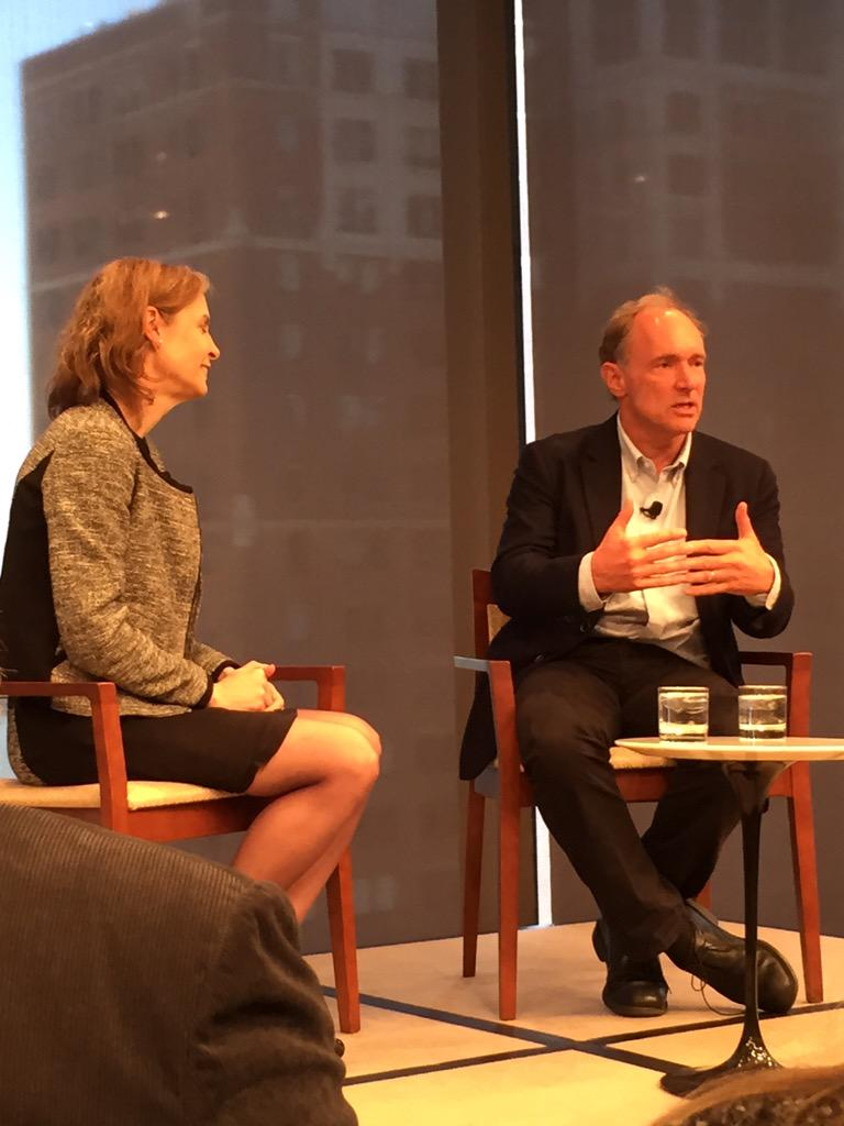 . @timberners_lee explains to @scrawford why he did not monetize his invention of the Web. #NetGain #netgain2015 http://t.co/VEHtnRCXQH