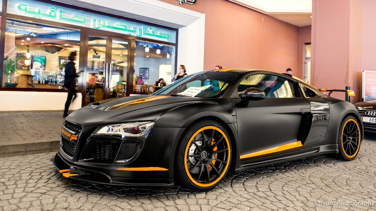 Carid Auto Parts On Twitter Custom Matte Black Audi R8 With Orange Stripes Audi Http T Co Mztyjsslhx Http T Co Uamwdf3j3r