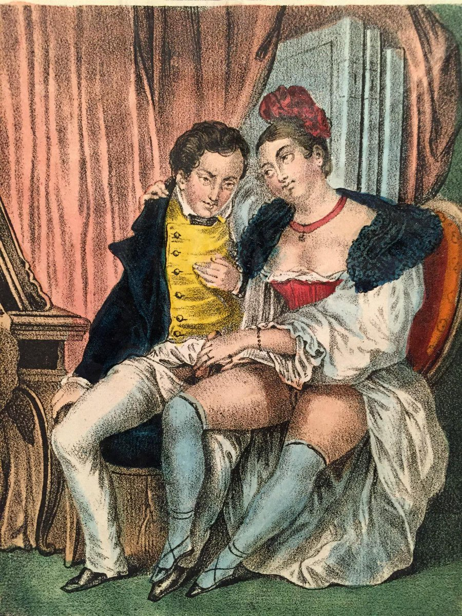 Vintage erotic art painting agree