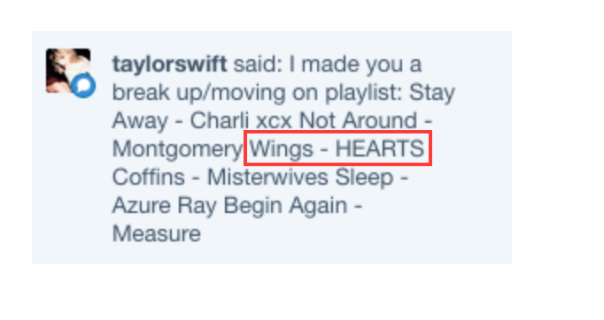 "I agree @taylorswift13, ""Wings"" is the perfect song for moving on.  @haertsmusic    http://t.co/I3JWlBTbRP http://t.co/1vDSWnmzXI"