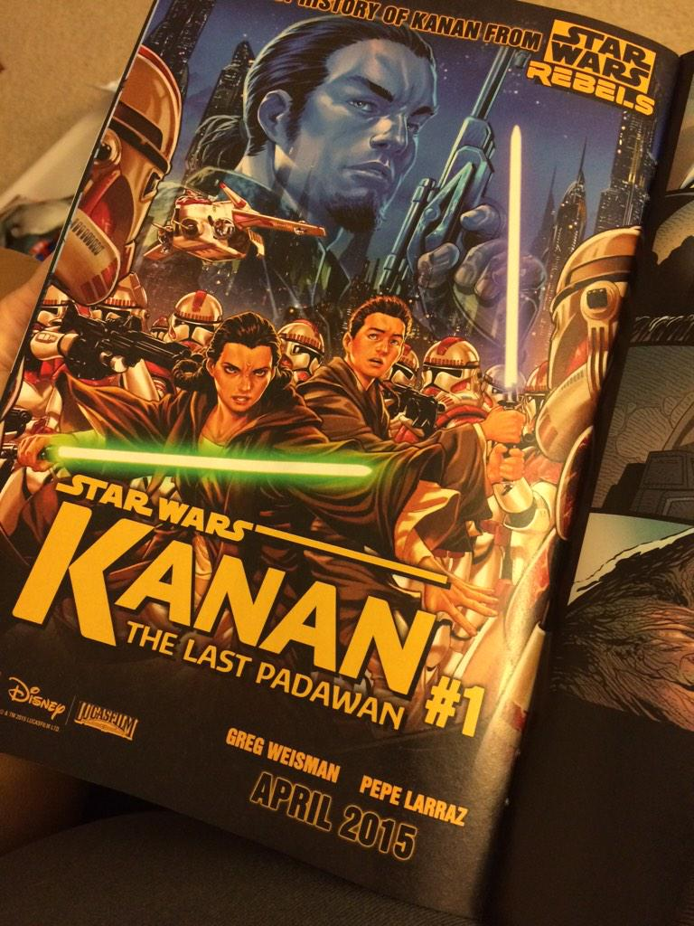Excited for the Kanan comic in April. #StarWars #Comics #StarWarsRebels http://t.co/BgDWwKIgJp