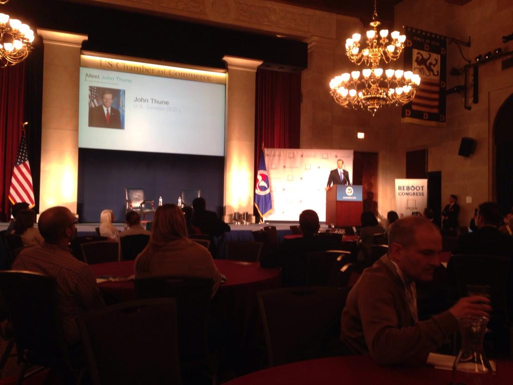 L2 at #RebootCongress @SenJohnThune takes the stage #L2data http://t.co/rHw4B0lRkZ